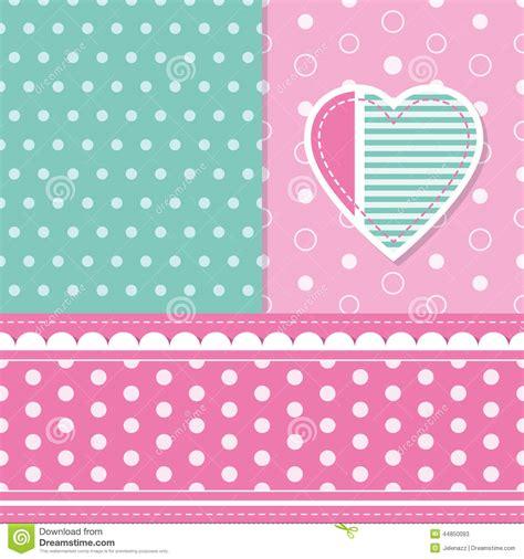 Od Kid Ribbon 2 Polka Pink baby greeting card stock vector image 44850093