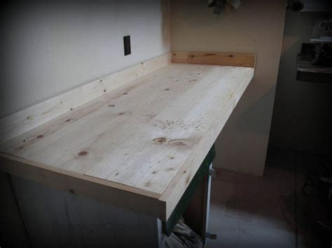 countertop makeover, wood countertop, stained wood counter