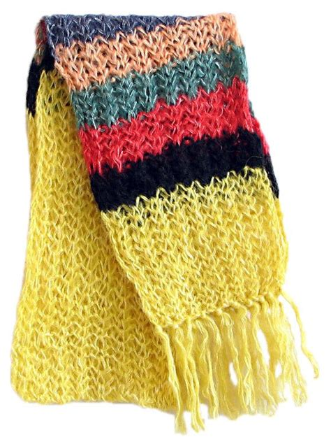 Ayla Light Yellow Scarf yellow woolen scarf with multicolor border 74 x 9 inches