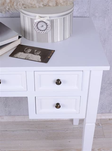 Romantic Console Desk Im Shabby Chic White Cottage Country White Cottage Desk