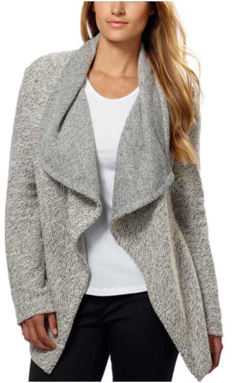 drape cardigan sweater bnci by blanc noir women s tweed drape front shawl collar