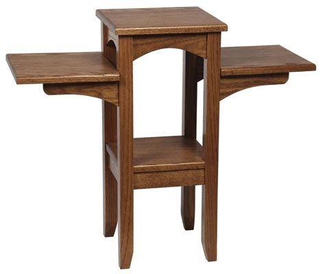 plant benches stands hardwood three tier plant stand from dutchcrafters amish furniture