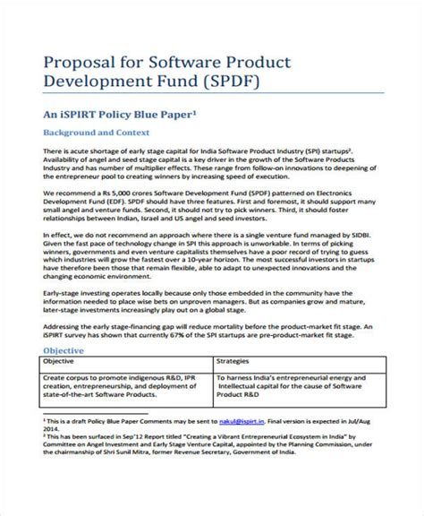 product proposal templates 8 free pdf format download
