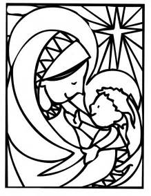 mother mary christmas coloring pages