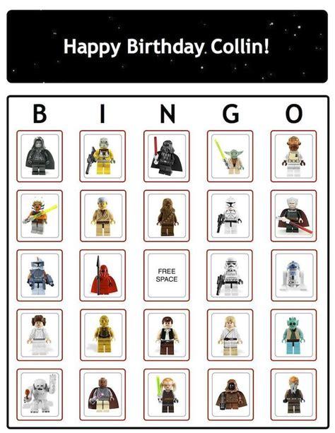 Printable Lego Star Wars Bingo Cards | lego 174 star wars bingo cards personalized ebay