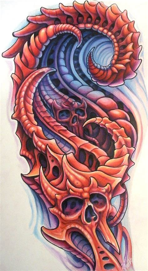 tattoo drawings designs and sketches custom sleeve design for brian bio mechanical style with