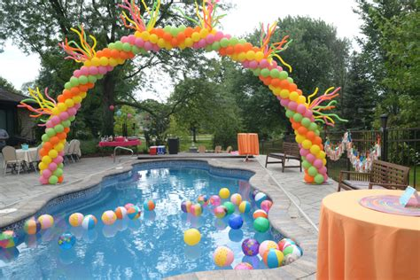 pool theme decorations pool ideas