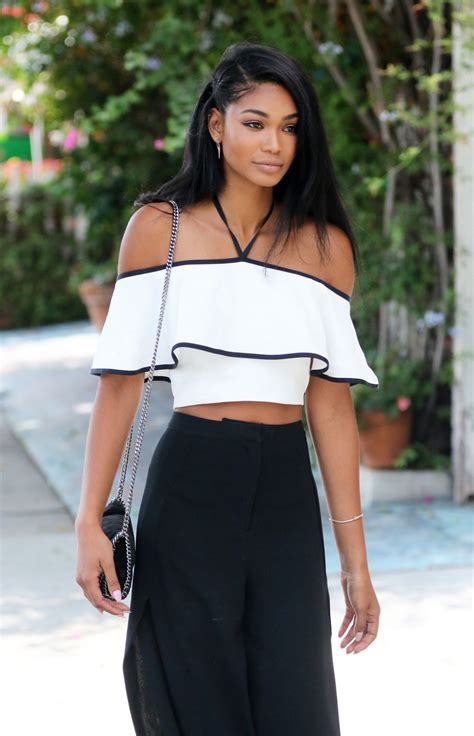 chanel iman chanel iman style leaves a restaurant in west hollywood