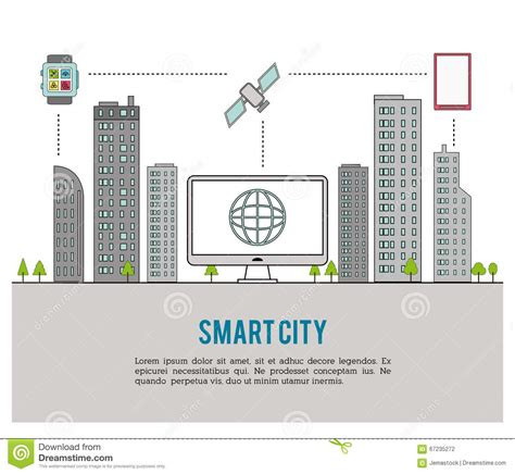 smart design smart city design stock illustration image 67235272