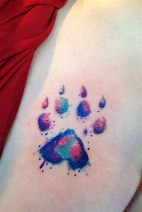 watercolor paw print tattoo watercolor paw print designs ideas and meaning