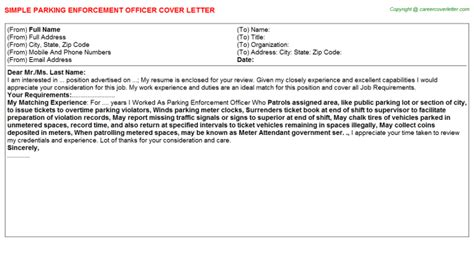 Parking Officer Cover Letter by Code Enforcement Officer Cover Letters Sles Descriptions And Duties