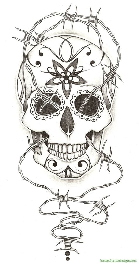 free skull tattoo designs for men day of the dead designs best cool designs