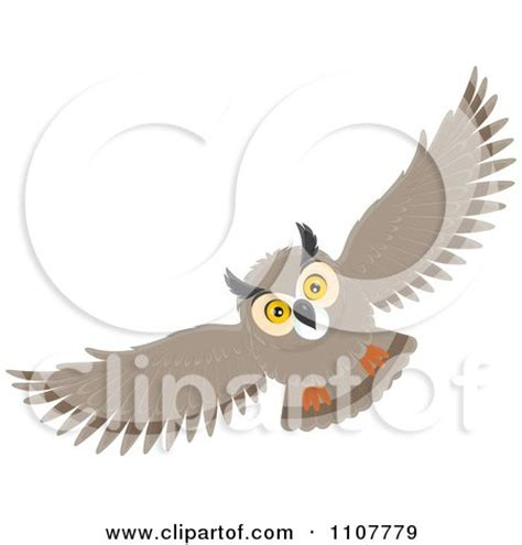 flying owl clipart clipart illustration of a brown owl in flight