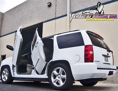 Rear Lambo Door Kits by Chevrolet Tahoe Rear Vertical Doors Conversion Kit 2007 2013