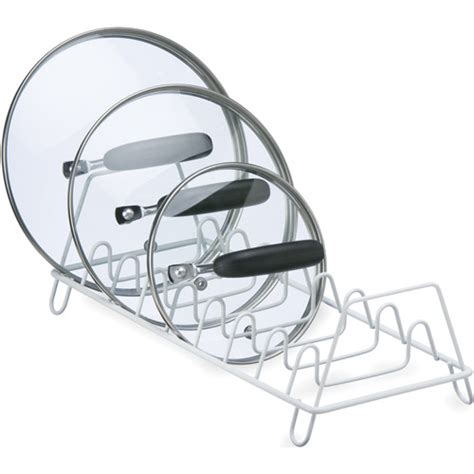 Pot And Lid Rack wire lid storage rack in pot lid racks