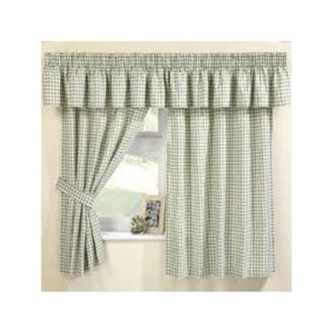 green checkered curtains maisy green gingham curtains pelmet sold separate net
