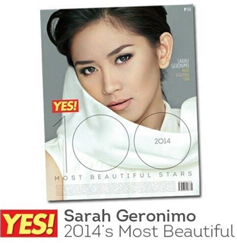 latest news about sarah geronimo fro 2014 sarah geronimo named as the quot most beautiful star quot by yes