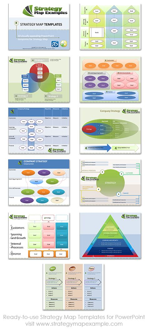 strategy map templates ready to use strategy map templates for powerpointstrategy