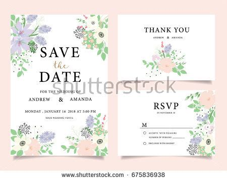 wedding card text template wedding invitation card template text stock vector