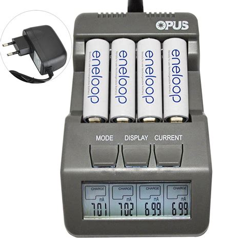 Charger Baterai Vape18650 Charger Rokok Elektrik Senter Led opus charger baterai nicd nimh 4 slot bt c700 black