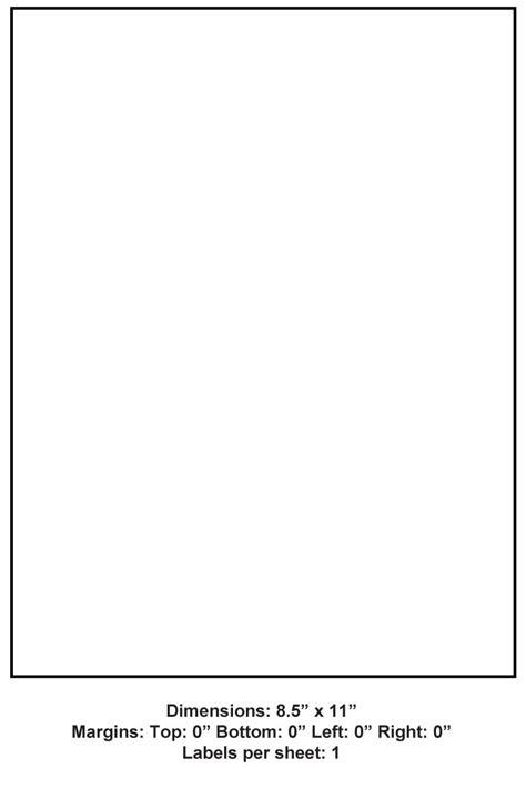 8 5 Quot X 11 Quot 1 Up Adhesive Label Paper 1 000 Sheets Per Carton 8 5 Quot X 11 Quot Labels Adhesive Spinnaker Label Templates