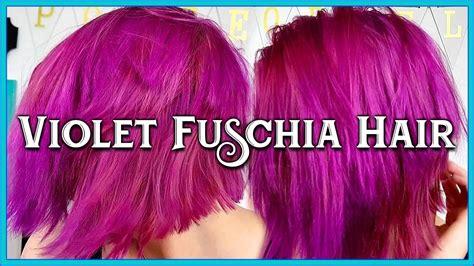 fuschia hair color fuschia hair color transformation by porcelain