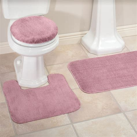 Bathroom Rugs And Toilet Seat Covers Plush Bath Rug Set Toilet Seat Cover And Rug Set Kimball