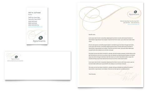Rent A Letterhead Apartment Condominium Business Card Letterhead Template Design