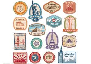 printable vintage travel stickers free printable