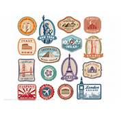 Printable Vintage Travel Stickers  Free Papercraft