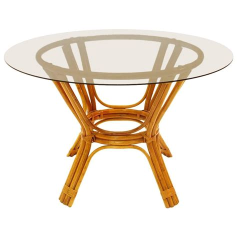 bamboo glass table and chairs italian vintage bamboo table with glass top 1970s for