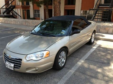2004 chrysler sebring limited convertible find used 2004 chrysler sebring limited convertible gold
