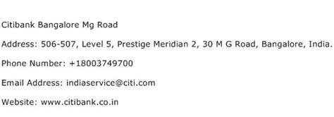 axis bank mg road bangalore citibank bangalore mg road address contact number of