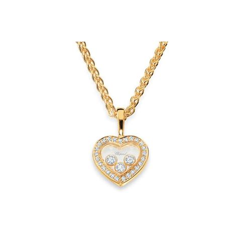 chopard happy diamonds yellow gold necklace king