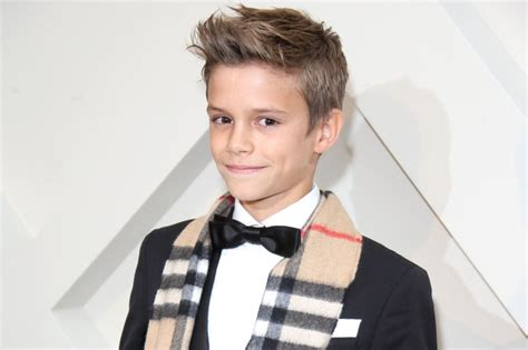 romeo beckham how old romeo beckham 12 paid 163 45 000 for modelling burberry