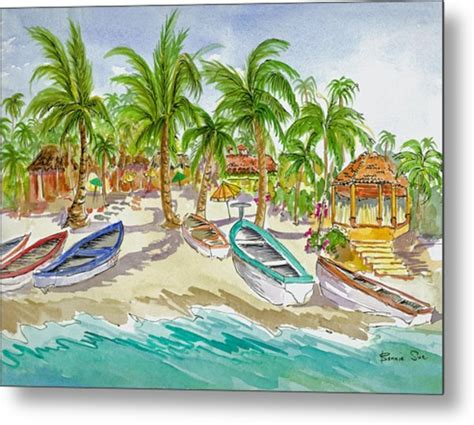 fishing boats in zihuatanejo fishing boats in zihuatanejo mexico painting by bonnie sue