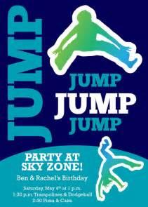 sky zone birthday invitation