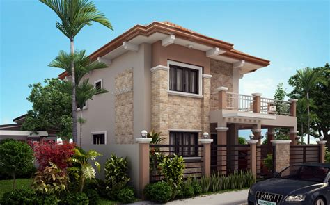 Four Bedroom Two Storey Contemporary Residence Amazing Two Storey House Plans With Kitchen Upstairs
