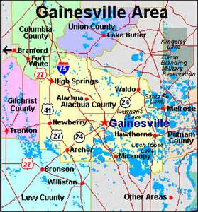 gainesville fl map