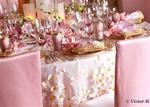 pink and gold wedding table setting pink weddings