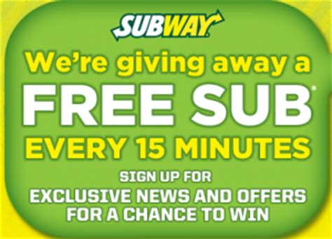 Subway Sweepstakes - subway quot text to win quot sweepstakes win a subway gift card