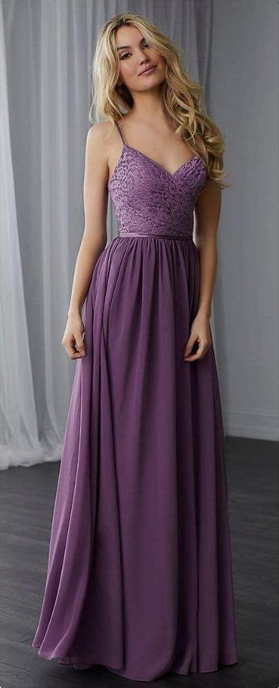 simple spaghetti straps evening dressa  purple