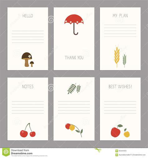 card template sets set of vintage cards templates editable stock vector