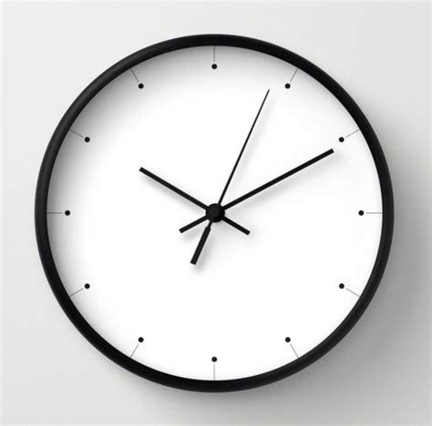 minimalist clock simple wall clock black and white clock minimalist design