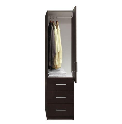 Narrow Wardrobe Closet Alta Narrow Storage Closet Right Door 3 Exterior