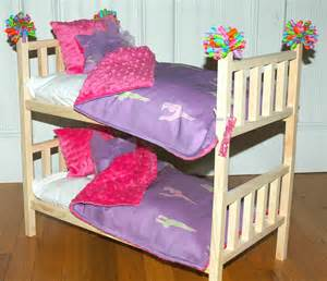 American Doll Bunk Bed by Doll Bunk Bed Mckenna Bunk Bed With Gymnastics Bedding