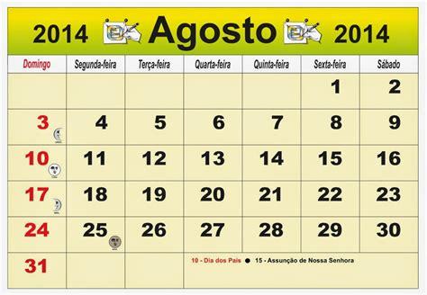 Calendario Mes De Agosto Arterocha Calend 193 Mes De Agosto 2014