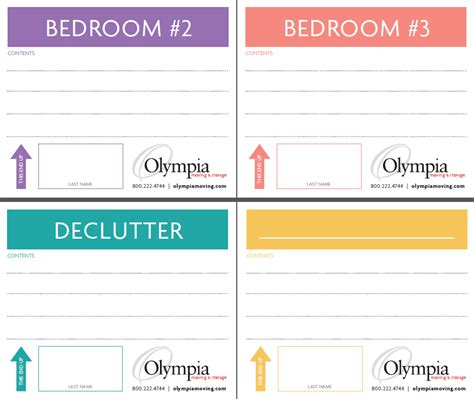 Free Printable Moving Box Labels Olympia Moving Storage Labels For Boxes Templates
