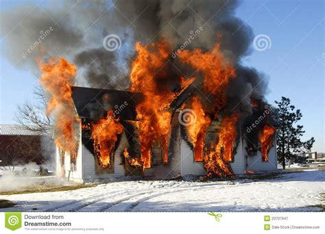 House On Fire Royalty Free Stock Photography Image 23707947