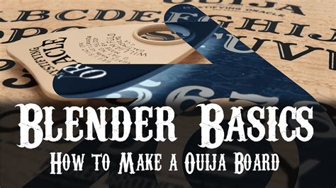 How To Make A Wigi Board Out Of Paper - how to make a ouija board in blender blendernation
